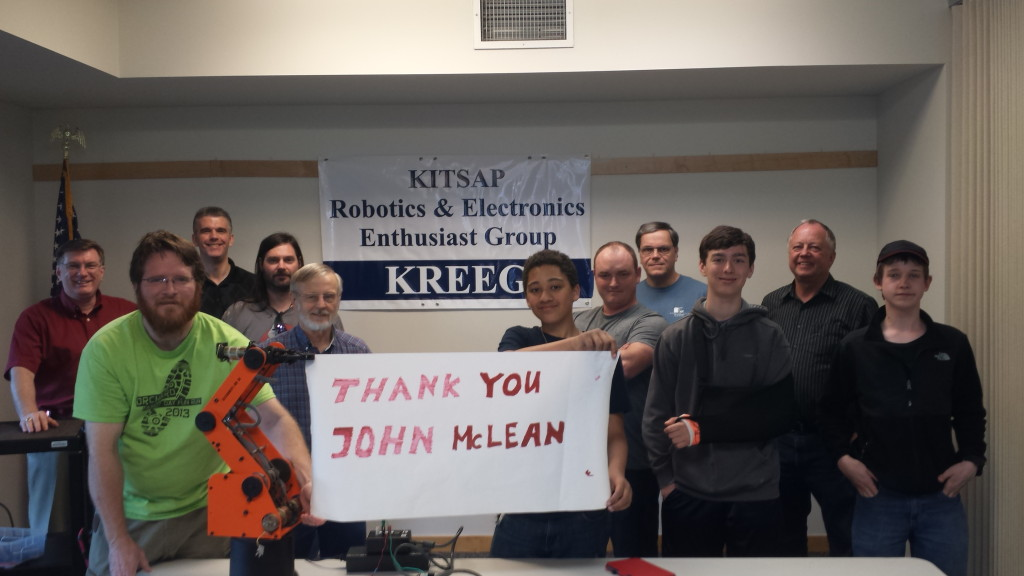Donated Robot arm from Mr. John McLean
